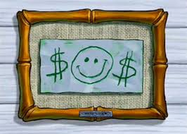 i turned a 1 frame from goodwill into mr krabs u0027 first dollar