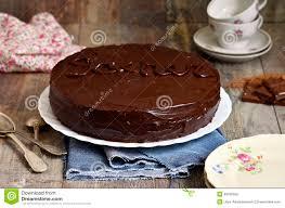 cuisine autrichienne gâteau de chocolat sacher cuisine autrichienne image stock