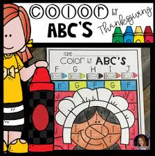thanksgiving color by abc s uppercase and lowercase by