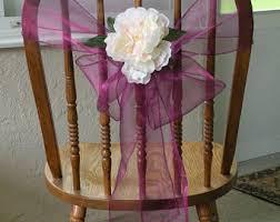 chair bows chair sashes etsy