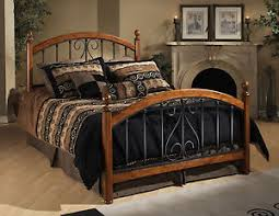 Iron And Wood Headboards Four Poster Bed Metal Wood Headboard Footboard Bedroom Furniture