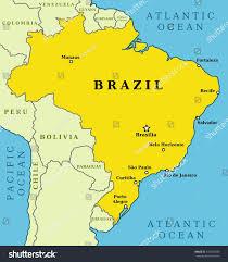 city map of brazil map brazil country outline 10 largest stock illustration 149340380