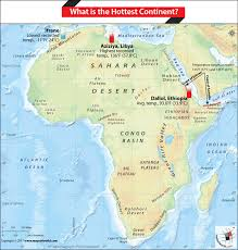 africa map deserts what is the continent answers