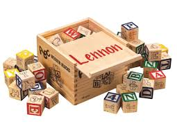 personalized box kimball personalized box of blocks toys
