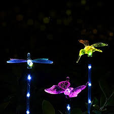 Solar Stake Garden Lights - bright zeal set of 3 solar powered garden stake light with vivid