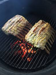 Rack Of Lamb On Grill Big Green Egg Greek Rack Of Lamb