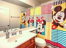 mickey and minnie bathroom set mickey and mouse fabric shower