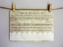 bridal shower printable invitations linen u0026 lace burlap white