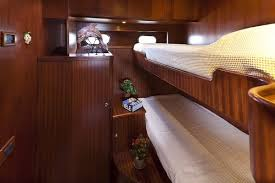 Boat Bunk Bed Charming Small Boat Cabin Design Using Two Level Bed With Wooden