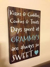 gifts for grandmothers personalized wood sign grandparent kisses