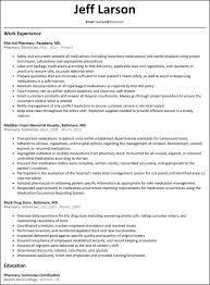 gallery of pharmacy technician resume sample writing guide