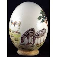 painted ostrich eggs painted ostrich egg with stand polyvore