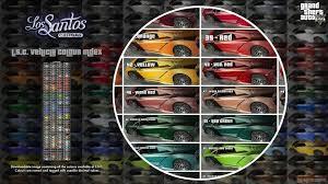 lsc vehicle colours index gta5 mods com
