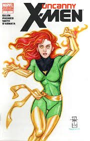 x men sketch cover the phoenix by everwho on deviantart