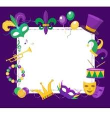 mardi gras picture frames mardi gras colored frame with a mask vector image