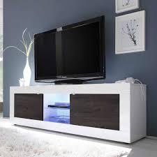 Hifi Wohnzimmer Design Tv Board In Weiß Hochglanz Wenge Led Beleuchtung Jetzt Bestellen