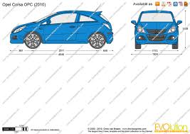 opel corsa 2009 the blueprints com vector drawing opel corsa d opc