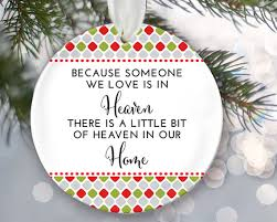 because someone we is in heaven ornament memorial