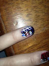 jersey texan heart diy tribal nail art