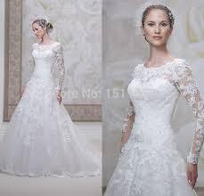 brautkleid spitze langarm vestidos de noiva renda longa casamento 2015 langarm