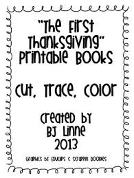 the thanksgiving cut trace and color printable book by bj
