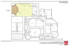floor plan for classroom ground floor of the church st andrews united methodist church