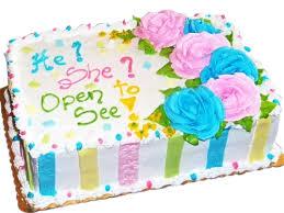 gender reveal sheet cakes