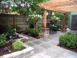 Flagstone Patio With Pergola Urban Or Suburban Landscaping Projects In The Multi Use Outdoor
