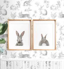 bunny rabbit print easter decor printable art nursery