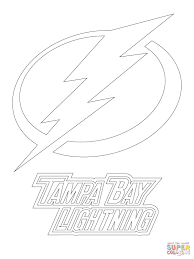 tampa bay lightning logo coloring page free printable coloring pages