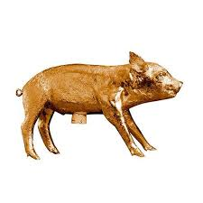 areaware reality bank in the form of a pig design
