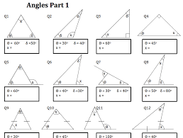 angles in a triangle worksheet solve my maths