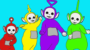 learn colors colours teletubbies coloring colouring pages
