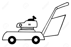 outlined lawn mower royalty free cliparts vectors and stock