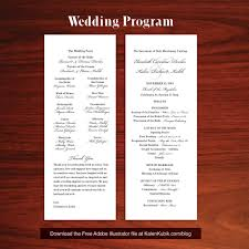 wedding program catholic free diy catholic wedding program ai template i m a professional