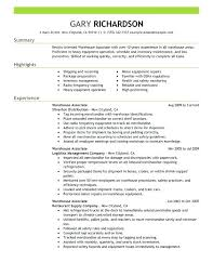 sample resume of warehouse worker warehouse worker cover letter