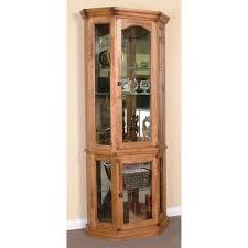 Pine Corner Hutch Curio Cabinet Corner Curio Cabinet Hutch Wayfair Wood Material