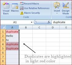 vba macro to find duplicates in excel gethowstuff