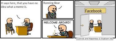 Running Bear Meme - yeah