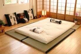 chambre japonais lit futon pour une chambre à coucher de style japonais