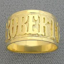 name ring gold men s solid gold personalized name ring handmade jewelry