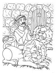 coloring pages daniel lions den coloring