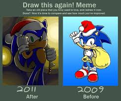 Sonic Meme - before and after meme santa sonic by lazy face on deviantart