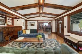 Fireplace Room by 1918 Larchmont Craftsman With Sun Room Tiled Fireplace Asks 1 7m