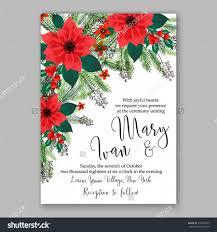 Christmas Invitation Cards Template Poinsettia Wedding Invitation Sample Card Beautiful Winter Floral