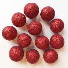 12 glitter wool felt balls sparkle decoration for home or ammo