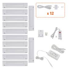 How To Hardwire Under Cabinet Lighting by 6 Inch Warm White Modular Led Under Cabinet Lighting Pro Kit 12