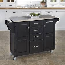 kitchen black kitchen cart with stainless steel top steel