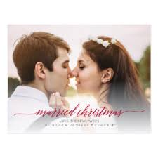 married christmas cards newlywed christmas cards invitations greeting photo cards