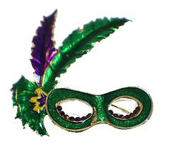 green mardi gras mask purple and green mardi gras mask rhinestone pin brooch broach